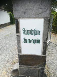 Haupteingang zu Kleingartenanlage